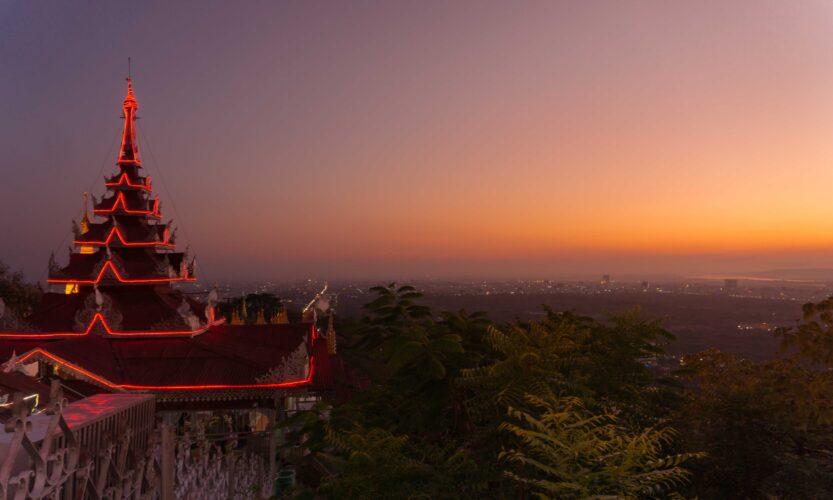 tramonto a Mandalay