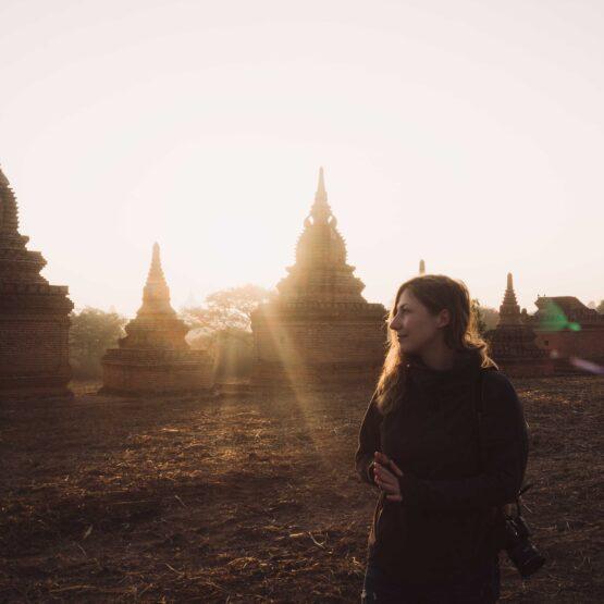 Alba a Bagan Myanmar ex Birmania